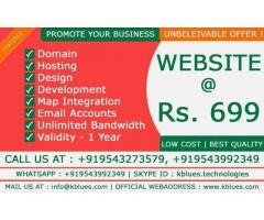 KBLUES TECHNOLOGIES Website at 699/ validity-1yr (salem)